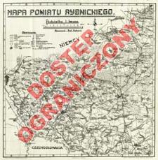 Mapa powiatu rybnickiego