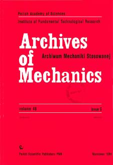 Archives of Mechanics Vol. 46 nr 6 (1994)