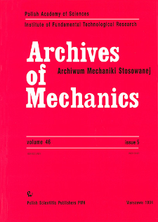 Archives of Mechanics Vol. 46 nr 5 (1994)