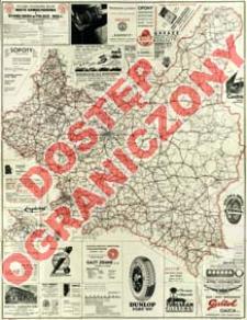 Mapa samochodowa i stanu dróg w Polsce 1935 : z uwzględnieniem potrzeb turystyki motorowej i kolarskiej : stan 1 kwietnia 1935 r.