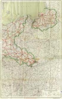Karte der Fernverkehrsstraßen Deutschlands (Osthälfte)