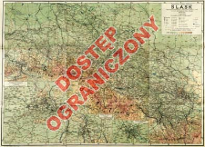 Śląsk : mapa fizyczno-administracyjna : (podział admin. w/g. stanu z r. 1939)