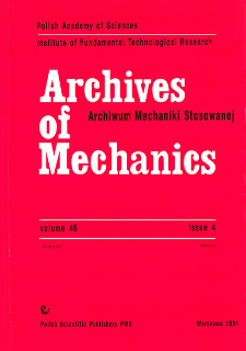 Archives of Mechanics Vol. 46 nr 4 (1994)