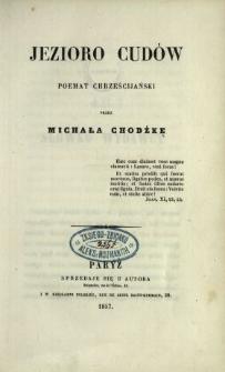 Jezioro cudów : poemat chrześcijański