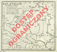 Map of Poland and adjacent countries