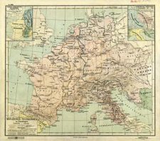Monarchja Frankońska za Karolingów : podziałka 1:6 500 000