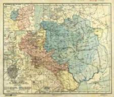 Polska i Litwa za Jagielonów (w. XV) : stan z r. 1494 z uwydatnieniem zmian granic wschodnich i miejsc hist. do połowy w. XVI : podziałka 1:6 000 000