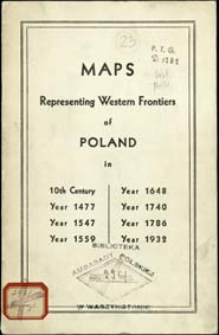 Maps representing western frontiers of Poland : in 10th century, year 1477, year 1547, year 1559, year 1648, year 1740, year 1786, year 1932
