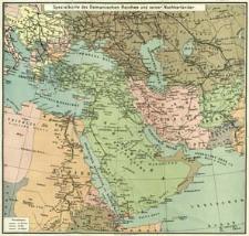 Gea-Karte des Osmanischen Reiches und seiner Nachbarländer