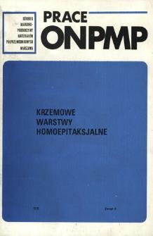 Krzemowe warstwy homoepitaksjalne