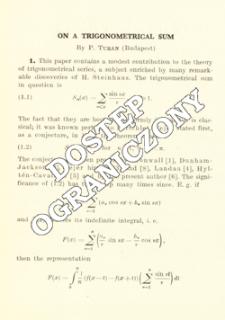 On a trigonometrical sum