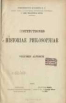 Institutiones historiae philosophiae. Vol. 2