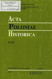 Acta Poloniae Historica. T. 70 (1994), Reviews