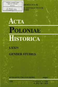 Acta Poloniae Historica. T. 74 (1996), News