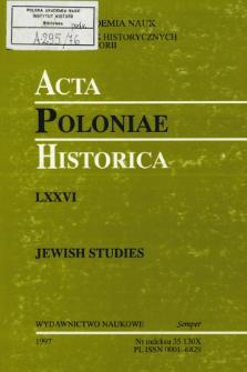 Acta Poloniae Historica. T. 76 (1997), Strony tytułowe, Spis treści