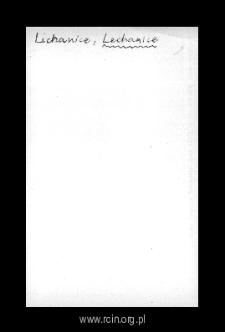 Lechanice. Kartoteka powiatu wareckiego w średniowieczu. Kartoteka Słownika historyczno-geograficznego Mazowsza w średniowieczu