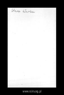 Stara Warka. Kartoteka powiatu wareckiego w średniowieczu. Kartoteka Słownika historyczno-geograficznego Mazowsza w średniowieczu