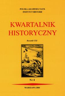 Kwartalnik Historyczny R. 111 nr 4 (2004), Recenzje