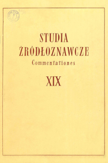 "Odnaleziony autograf - ""Cronica de ducatu Stettinensi et Pomeranie"" Jana Parleberga : Stadtarchiv Stralsund Hs 404"