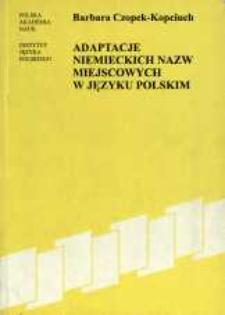 Adaptacje niemieckich nazw miejscowych w języku polskim