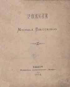 Poezje Michała Bałuckiego