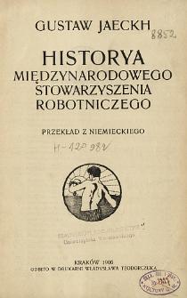 Historya międzynarodowego stowarzyszenia robotniczego
