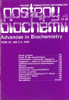 Postępy biochemii, Tom 37, Nr 3-4