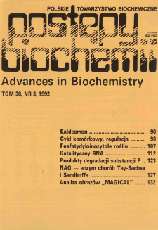 Postępy biochemii, Tom 38, Nr 3