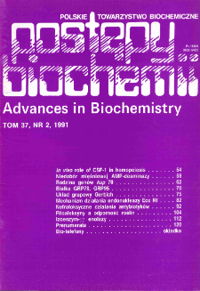 Postępy biochemii, Tom 37, Nr 2