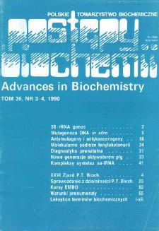 Postępy biochemii, Tom 36, Nr 3-4