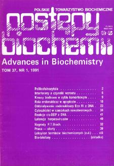 Postępy biochemii, Tom 37, Nr 1