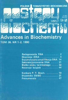 Postępy biochemii, Tom 36, Nr 1-2