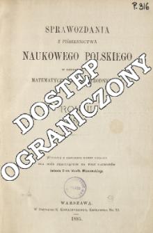 Sprawozdania z Piśmiennictwa Naukowego Polskiego w Dziedzinie Nauk Matematycznych i Przyrodniczych, Rok II (1883)