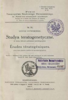 Studya teratogenetyczne