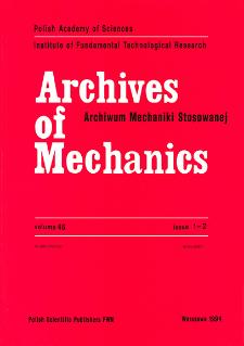 Archives of Mechanics Vol. 46 nr 1-2 (1994)