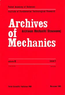Archives of Mechanics Vol. 45 nr 6 (1993)