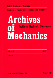Archives of Mechanics Vol. 45 nr 4 (1993)