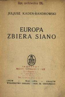 Europa zbiera siano
