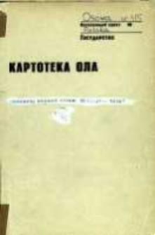 Kartoteka Ogólnosłowiańskiego atlasu językowego (OLA); Osowa (315)