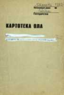Kartoteka Ogólnosłowiańskiego atlasu językowego (OLA); Skaratki (282)