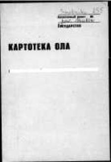 Kartoteka Ogólnosłowiańskiego atlasu językowego (OLA); Smolniki (255)