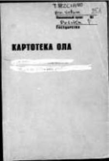 Kartoteka Ogólnosłowiańskiego atlasu językowego (OLA); Trzciano (251)