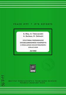 Efektywna przewodność dwuskładnikowego kompozytu o regularnej dwuwymiarowej strukturze