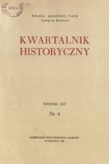Kwartalnik Historyczny R. 65 nr 4 (1958), Życie naukowe za granicą