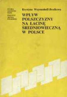 Wpływ polszczyzny na łacinę średniowieczną w Polsce