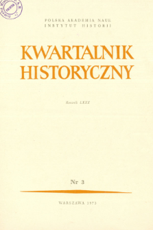 Kwartalnik Historyczny. R. 80 nr 3 (1973), Title pages, Contents