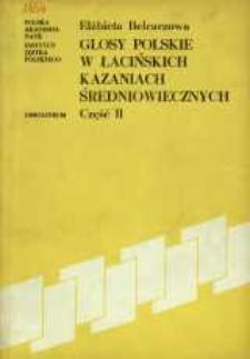 Glosy polskie w łacińskich kazaniach średniowiecznych. Cz. 2