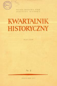 Kwartalnik Historyczny. R. 82 nr 1 (1975), Strony tytułowe, Spis treści