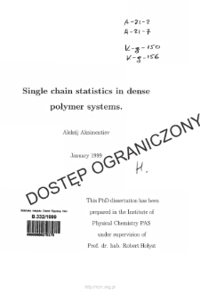 Single chain statistics in dense polymer systems