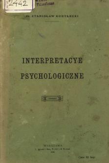 Interpretacye psychologiczne